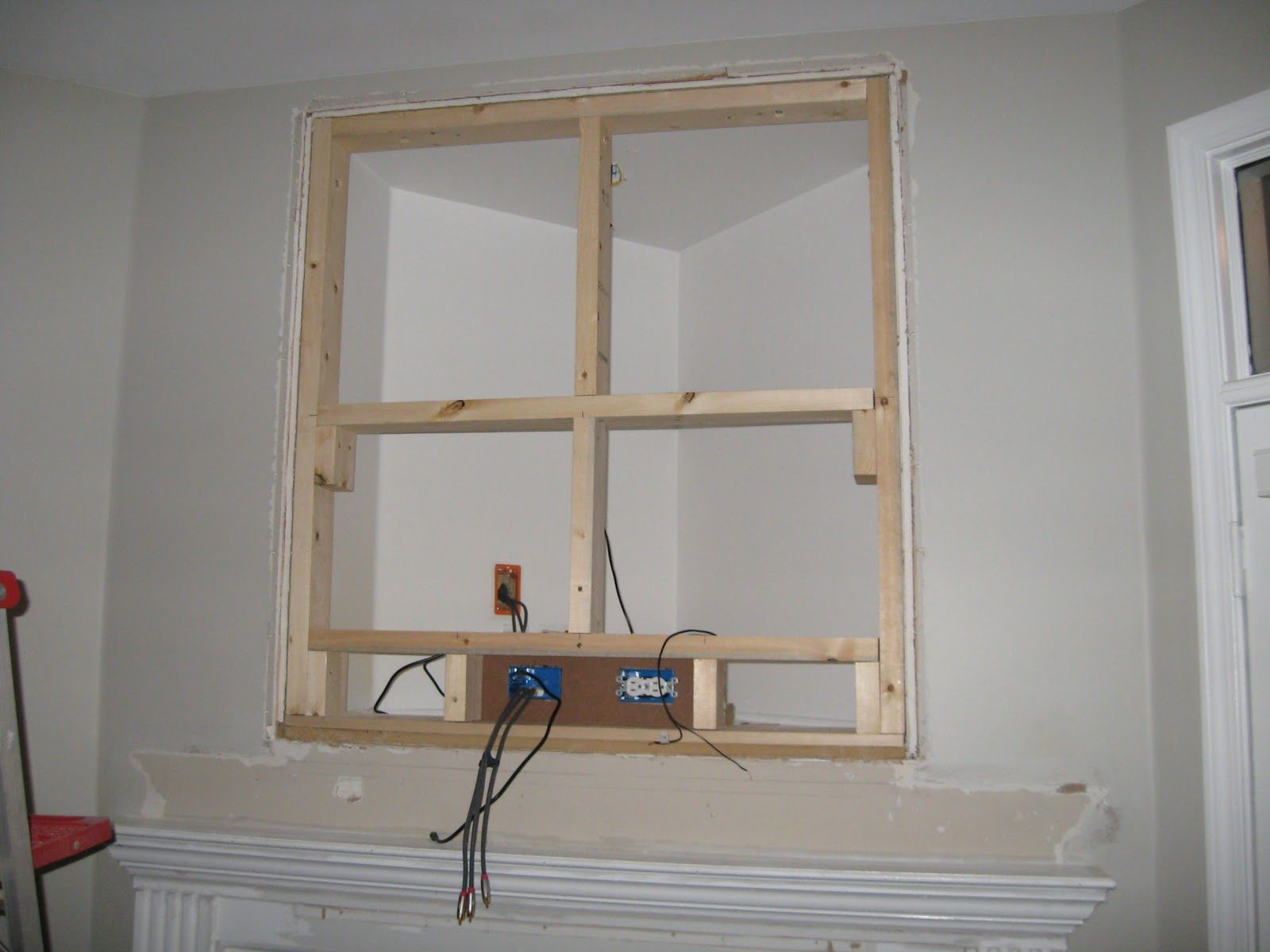 How To Fill In The Tv Nook Over The Fireplace For The