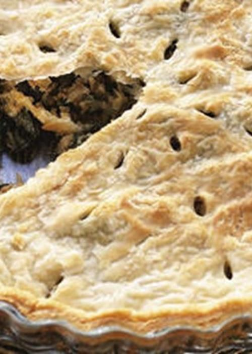Pie Folhada com Recheio de Carne e Cogumelos