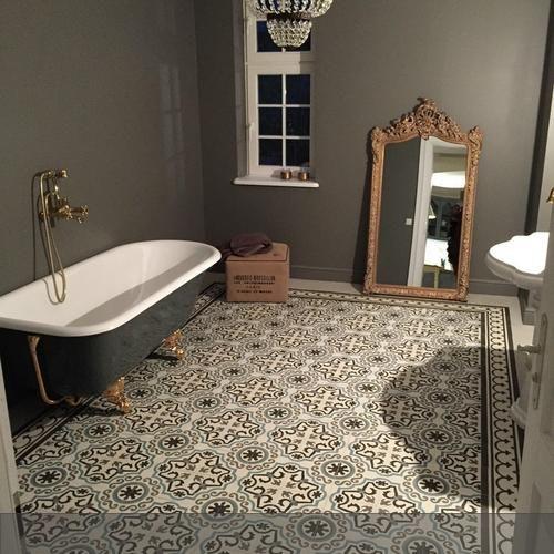 Ideen Feuchtraumboden Für Badezimmer Bodenbelag Abdichten Stil: Originelle Fliesen Retro Badezimmer