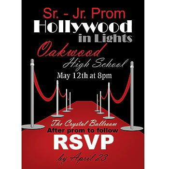 Our one sided hollywood red carpet invitations are printed with your hollywood red carpet invitations stopboris Gallery