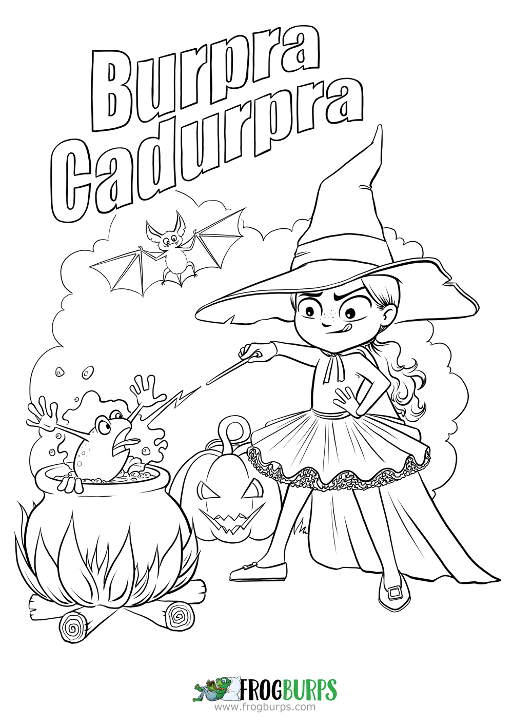 Burpra Cadurpra | Coloring Page #freebie #free #coloringpages #witch ...