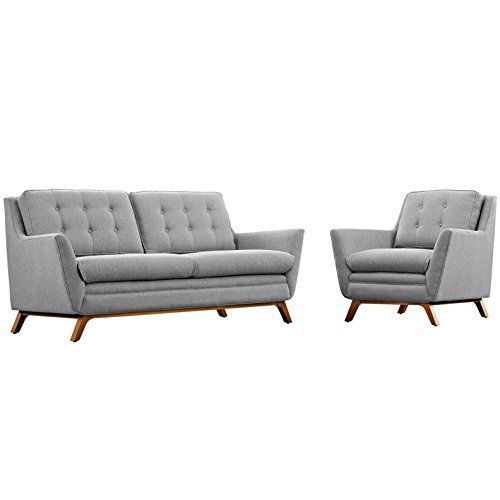 Unique Modern Contemporary Urban Design Living Lounge Room Sofa Set Set of Two Grey  - Simple Elegant Sofa and Loveseat Set Simple