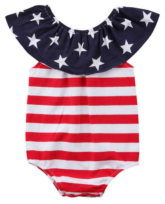 8d936b5eedda4 4th of July Stars And Stripes Romper | Cute Rompers | Rompers, Cute ...