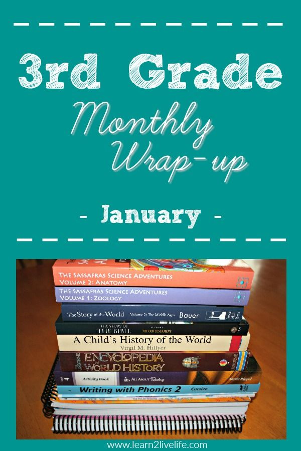 3rd Grade Monthly Wrap Up January Writing A Book Homeschool Learning