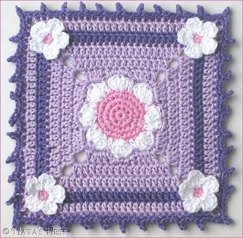 Daisy Granny Mug Rug - free pattern. | crochet | Pinterest | Häkeln ...