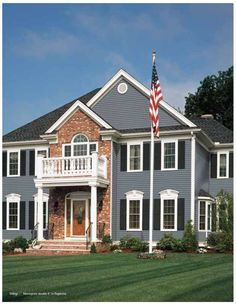exterior paint colors with brick pictures. Colonial  more color options for a red brick house with siding on top