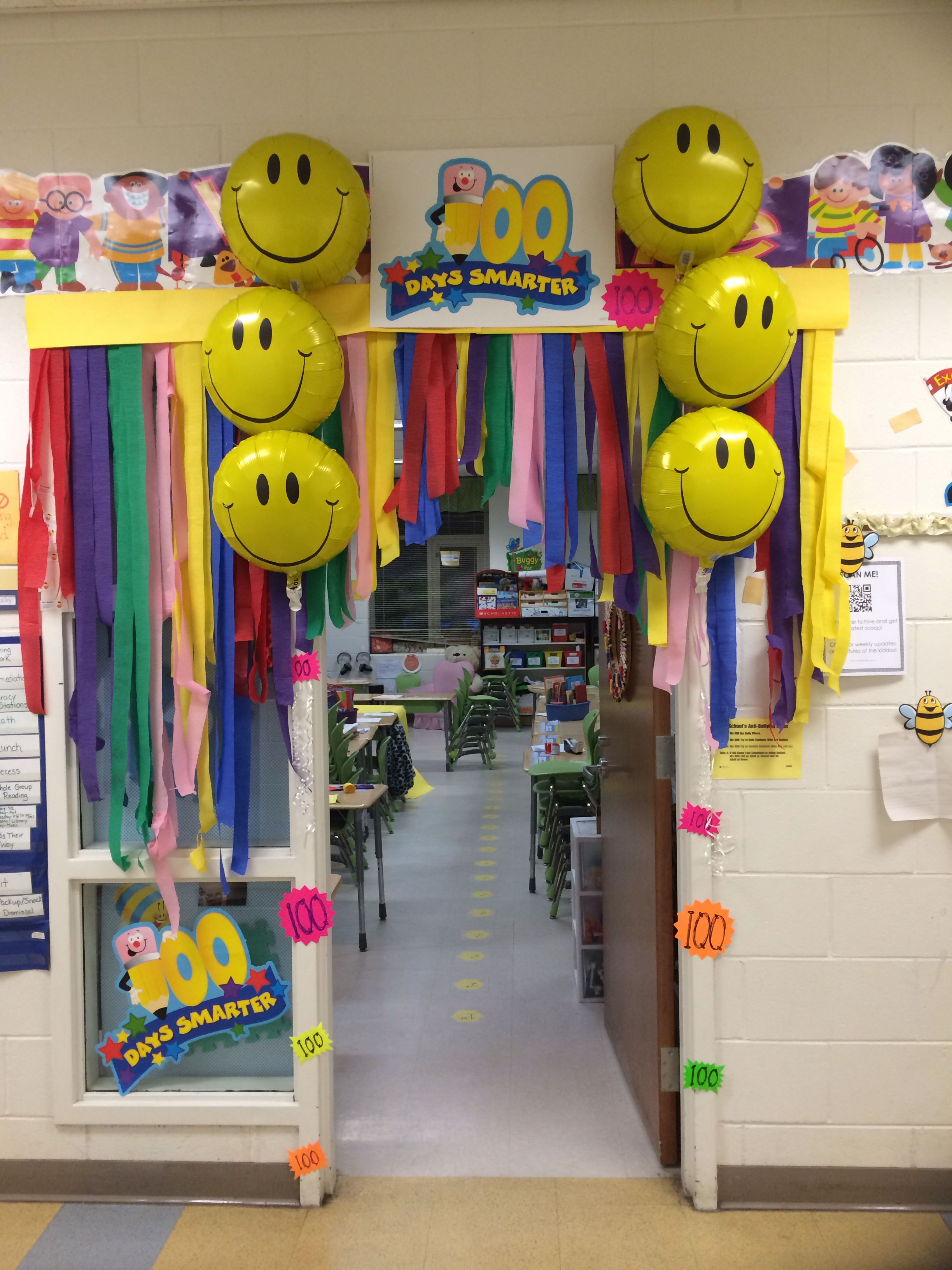 100 th day of school teacher door decorations | 2nd grade ...