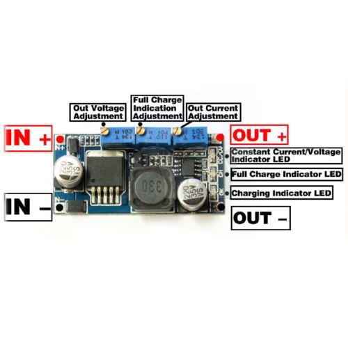 Down Module DC Voltmeter Buck Converter LM317 Circuit Board Voltage Regulator
