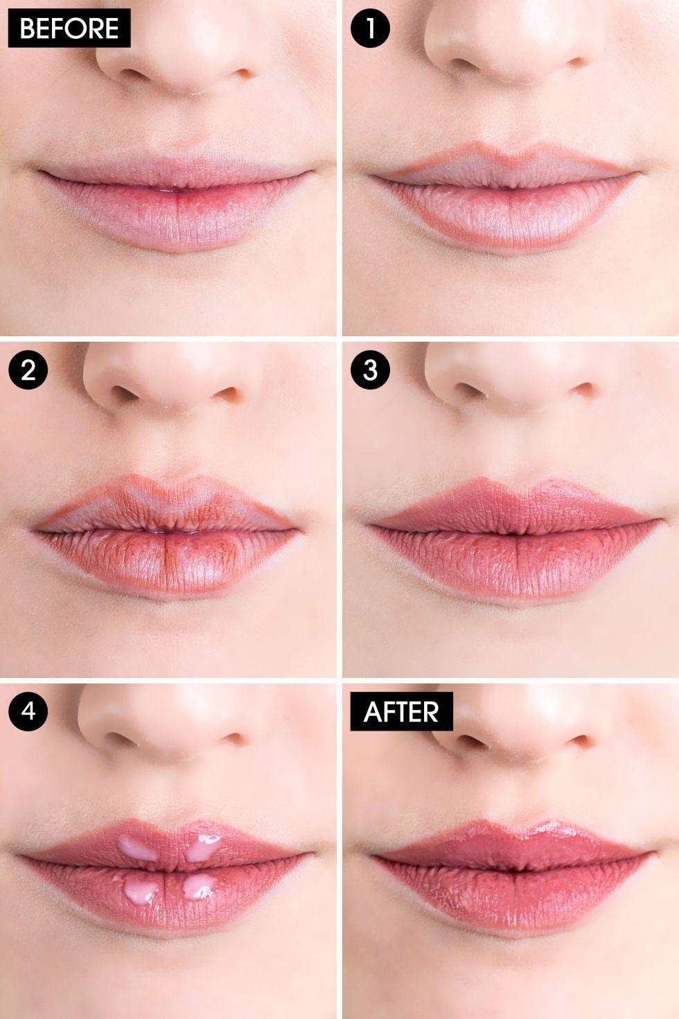 How to Fake Full Lips in Four Easy Steps  Fuller lips makeup, How