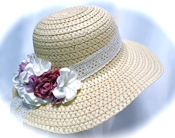 Chicas gran Tea Party Hat Pascua Capo Florista sombreros