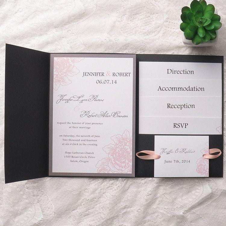 Affordable wedding invitations elegant foil stamped laser