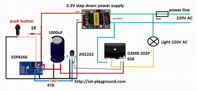 ESP8266 internet switch schematic | smart things | Pinterest ...