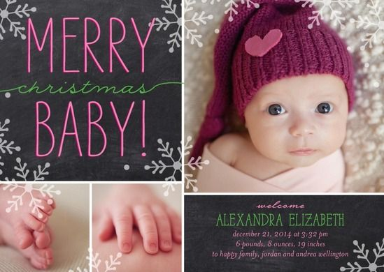 Simply Put Baby Girl Birth Announcement