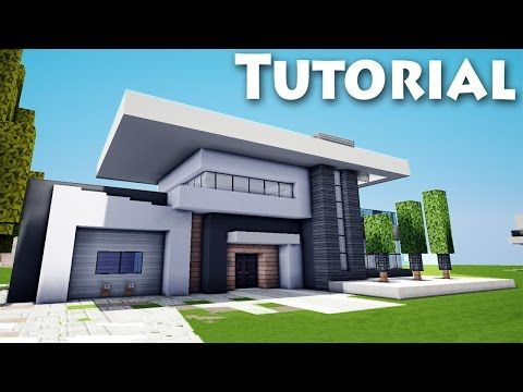 Minecraft How To Build Cool A Modern House Mansion Tutorial - Coole minecraft hauser tutorial