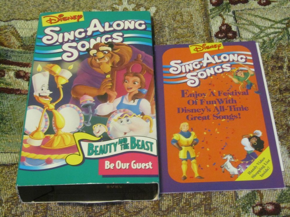 Rare Vhs Disney Sing Along Songs Beauty And The Beast Be Our Guest