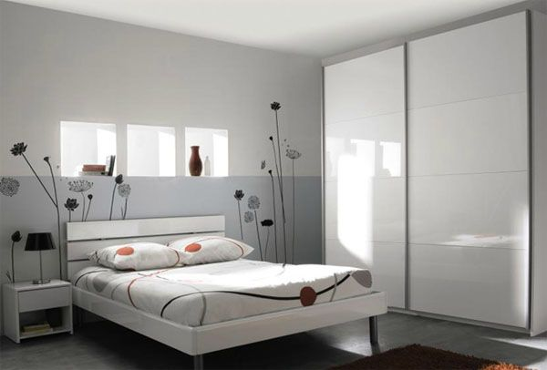 D coration chambre adulte couleur gris chambre pinterest chambre adulte d co chambre for Photos chambres a coucher adultes