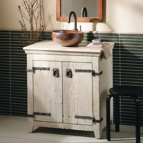 30 Inch Americana Bathroom Vanity Set In Whitewash Bnda01