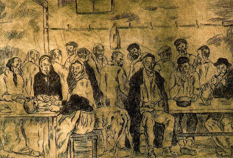 1932-33 Comedor de los pobres. José Gutierrez Solana