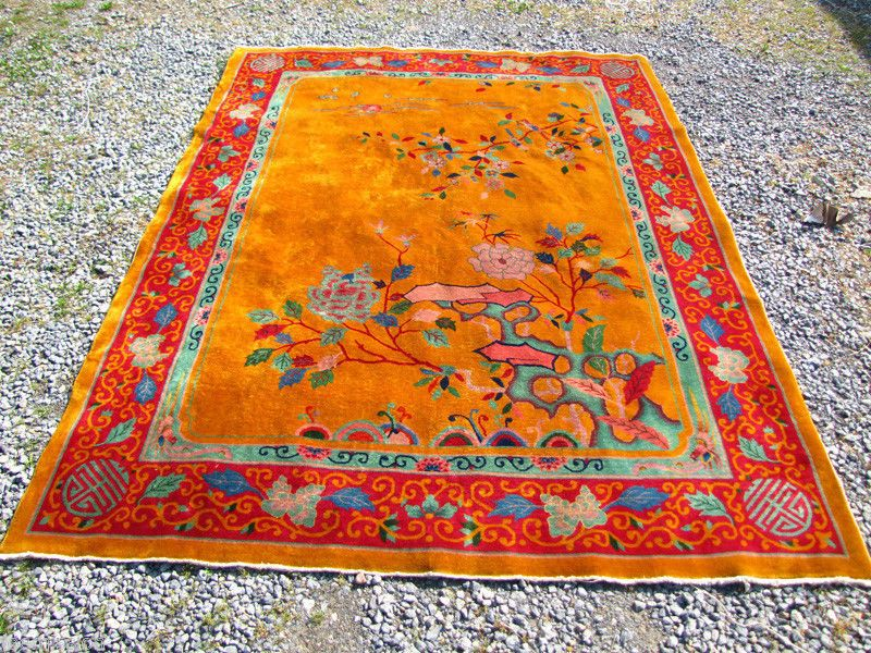 Superb Antique Deco Chinese Oriental Rug Hand Made Rr2029 Ebay