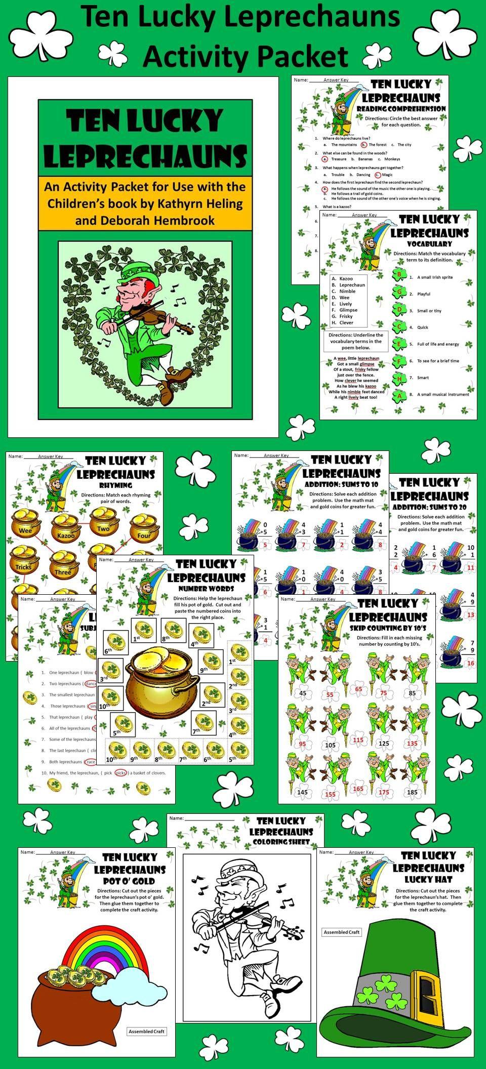 St Patrick S Day Leprechaun Activities Classroom Activities Elementary Fun Language Arts [ 2112 x 960 Pixel ]