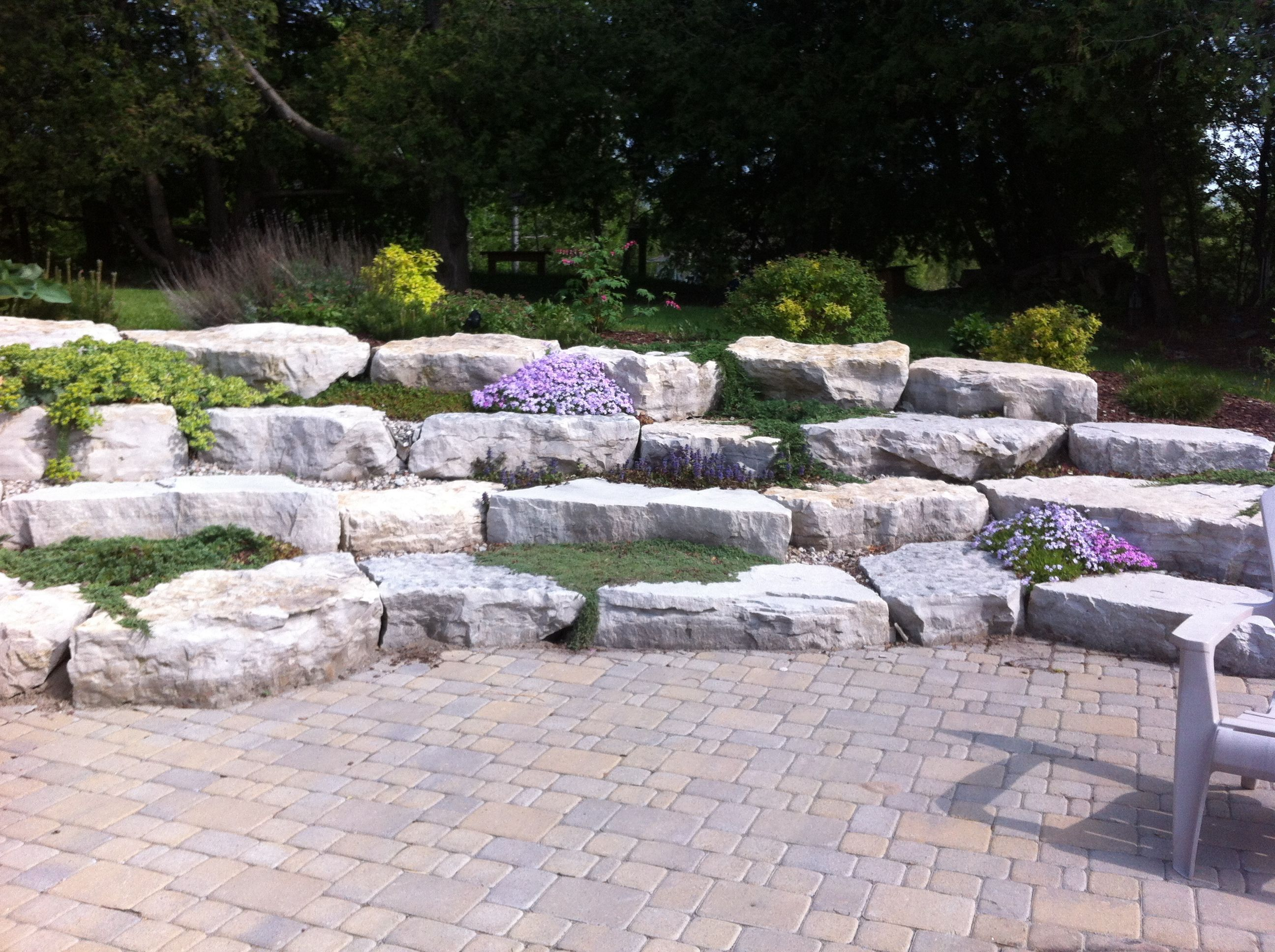Our Armour Stone Wall At The Cottage Interlock With Large 640 x 480