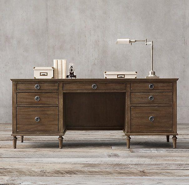 Office desk restoration hardware maison 76 desk for Classic furniture restoration
