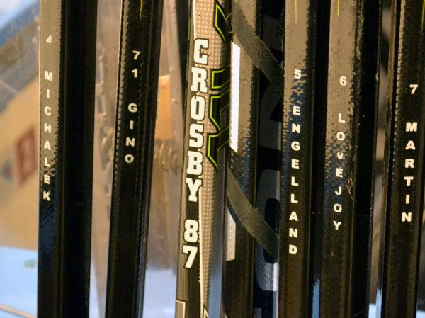 Pittsburgh Penguins Hockey Sticks at Madison Square Garden