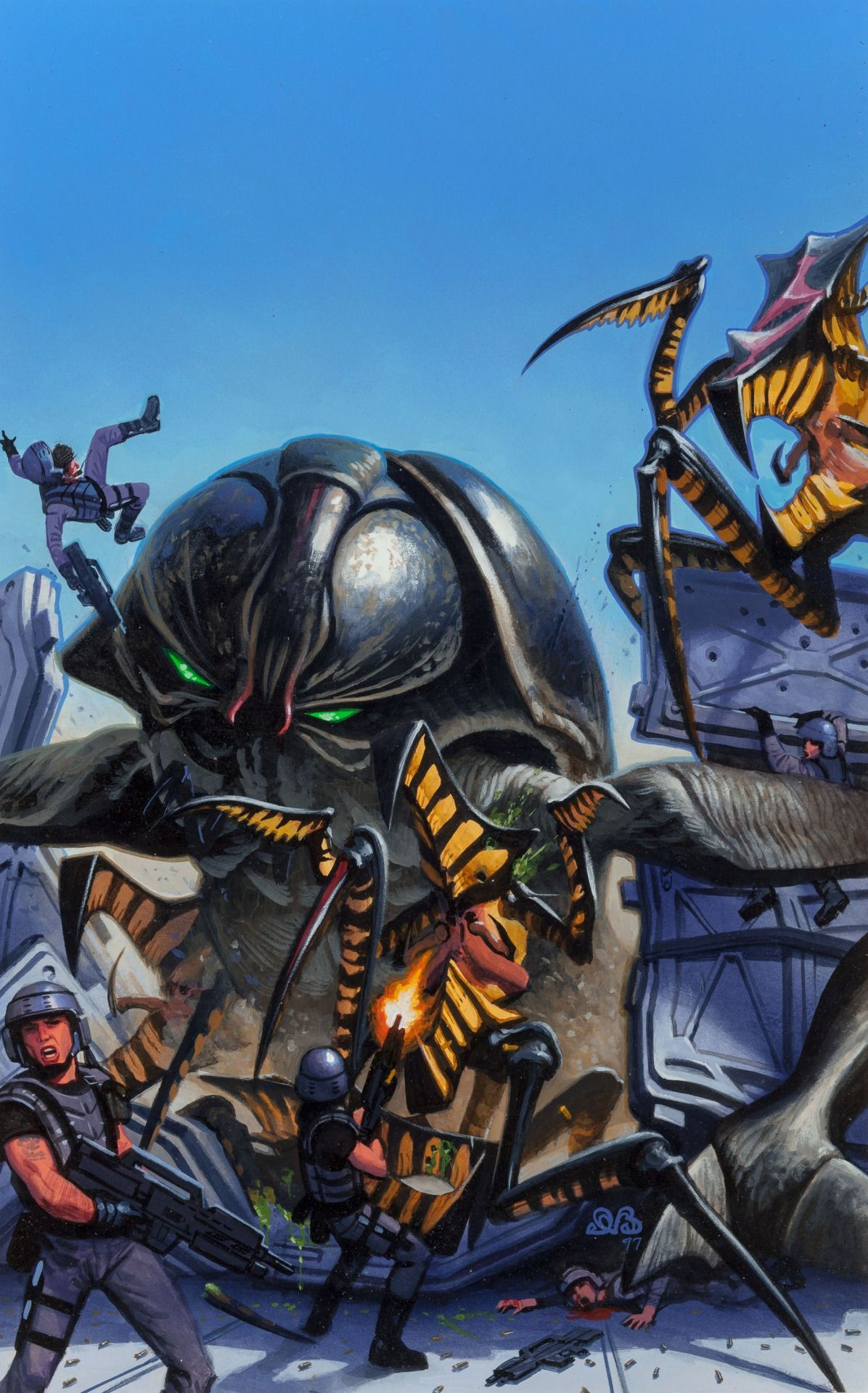 Den Beauvais | cover art for Dark Horse's _Starship Troopers_ #2