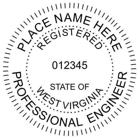 West Virginia Engineer Stamp Embossing Seal Or