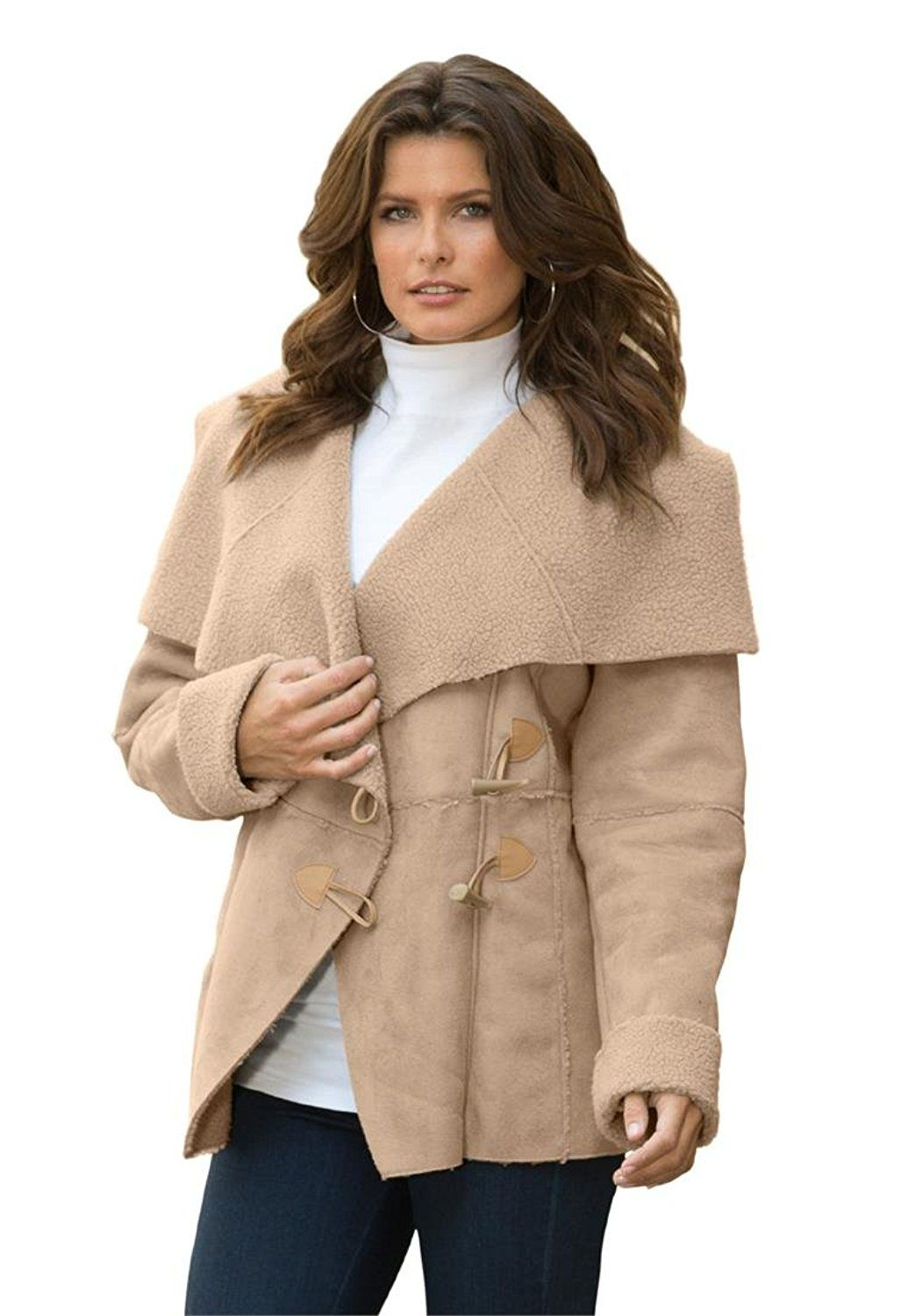 5c1e5457217 Roamans Women s Plus Size Shawl Sherpa Coat -- This is an Amazon Affiliate  link. Check out the image by visiting the link.
