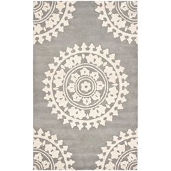 Handmade Soho Chrono Grey/ Ivory New Zealand Wool Rug (8'3 x 11')