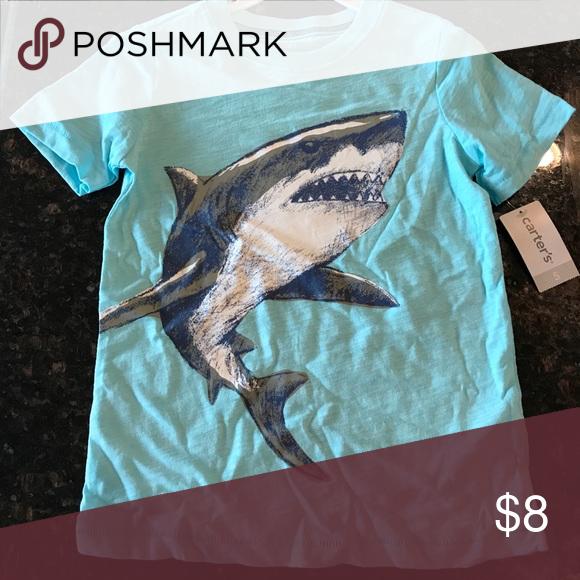 Shark tee Light blue shark T-shirt from Carter's. Never worn! Carter's Shirts & Tops Tees - Short Sleeve