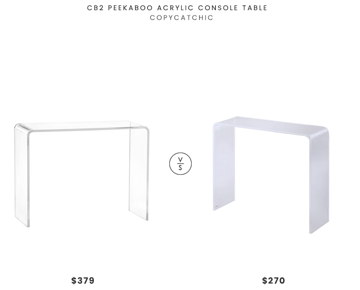 Daily Find Cb2 Peekaboo Acrylic Console Table Copycatchic Console Table Decorating Console Table Living Room Design Modern
