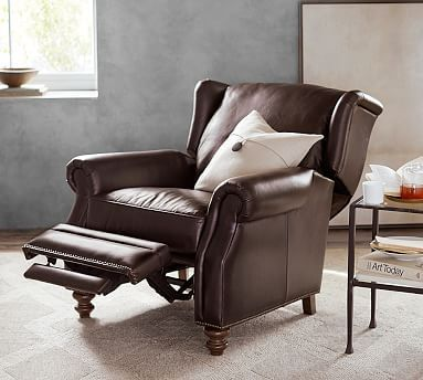 Hopefully As Comfy As It Looks Thinking Master Bedroom Percy Leather Recliner Potterybarn Leather Recliner Recliner Chair Furniture