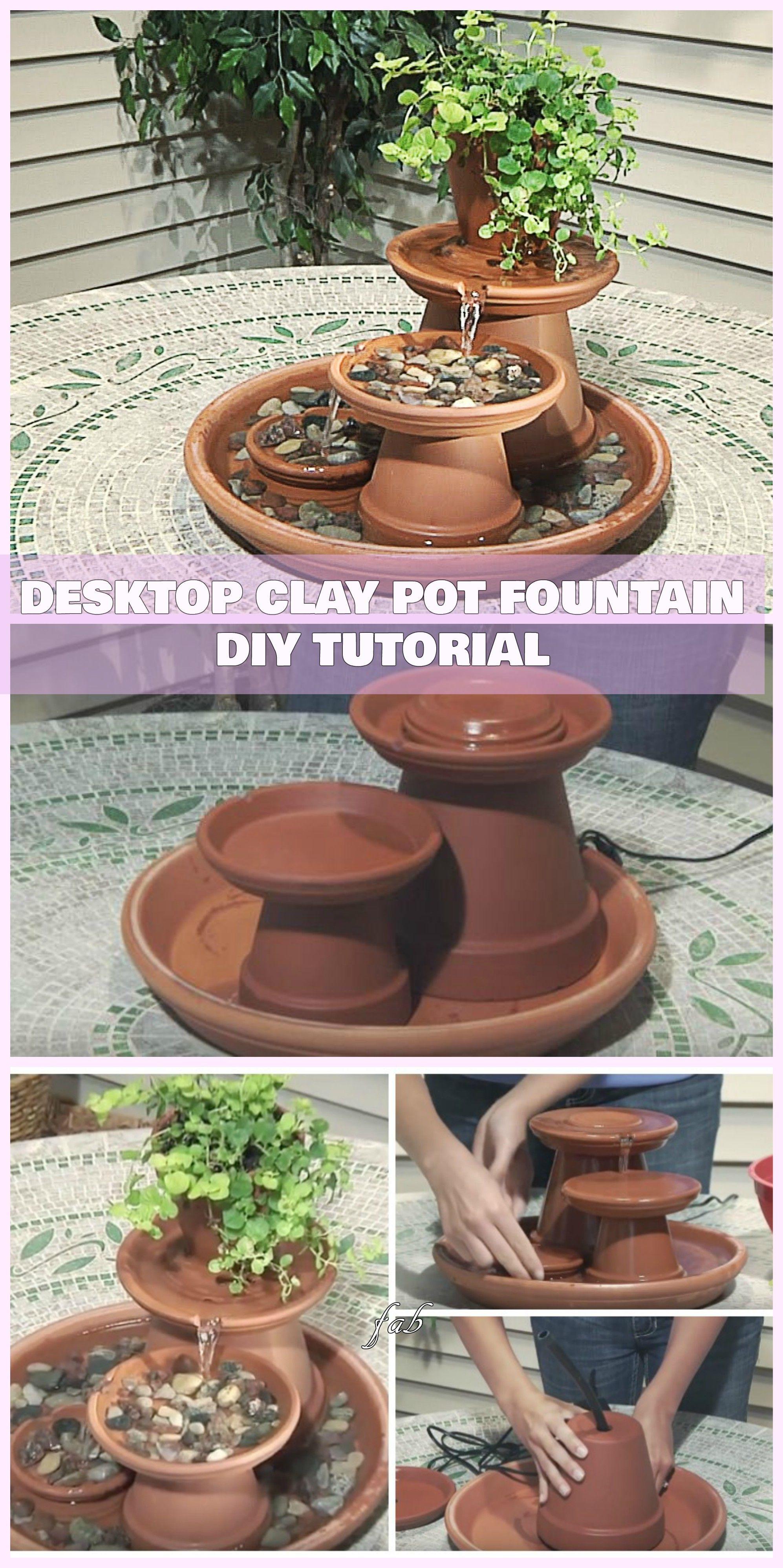 Diy terracotta clay pot fountain projects tutorials clay