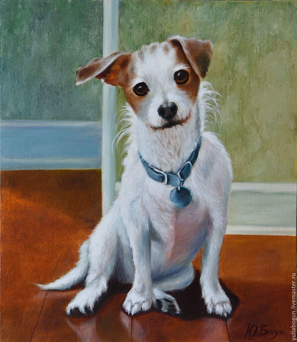 """Картина маслом собака """"Джек-Рассел-терьер"""" – купить на ..."""