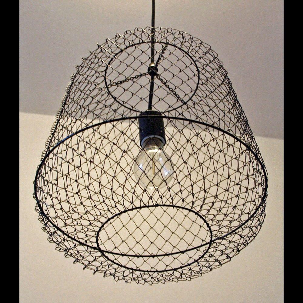 Rustic Copper Pail Pendant Light By Cre8iveconcrete On Etsy: Fishing Basket Light Fixture. $65.00, Via Etsy.