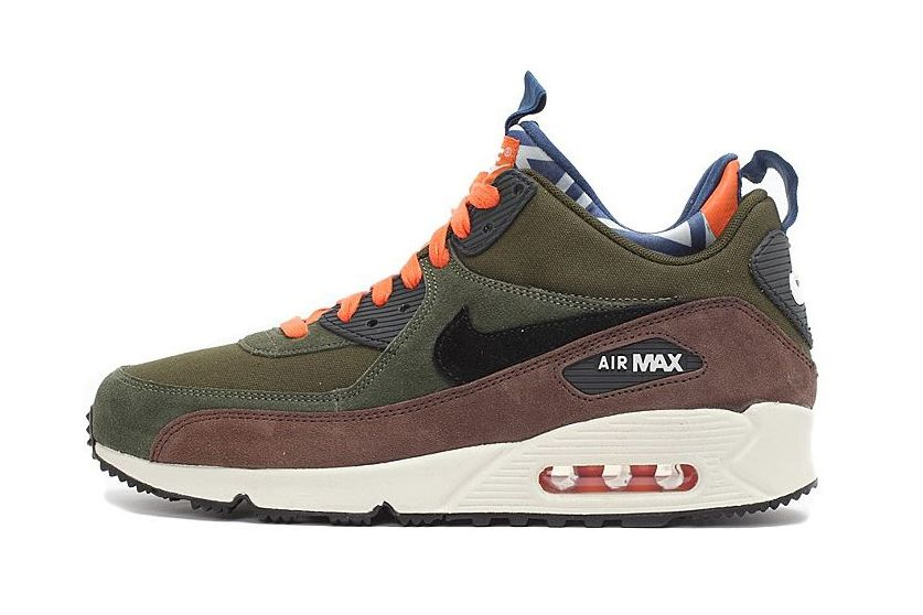 womens air max 90 sneakerboot blue orange