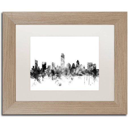 Trademark Fine Art Austin Texas Skyline B Canvas Art by Michael ...