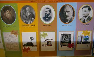Murales De Los Inventos Blog La Clase De Miren Inventos E Inventores Inventos Para Niños Inventos