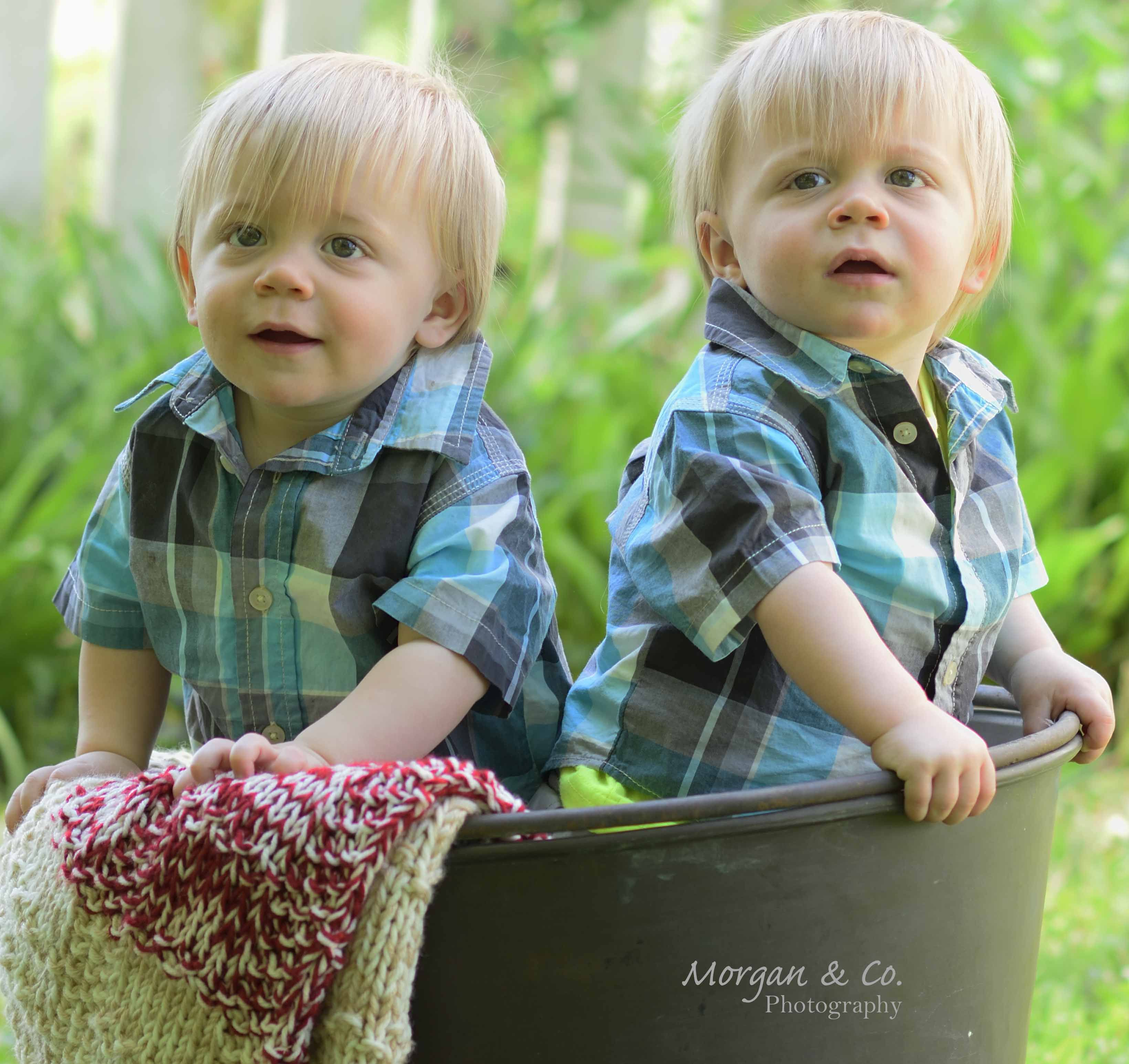 One year old twins....fun and oh so adorable!