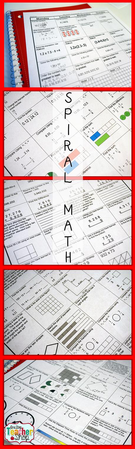 Spiral Math Homework to Reinforce the Standards | Homework, Maths ...