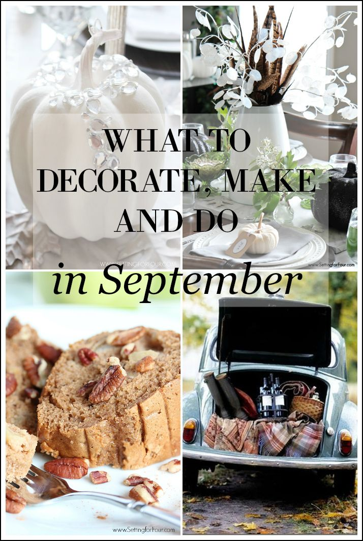 September Decorating Ideas what to decorate, make and do in september | fun diy, holidays and