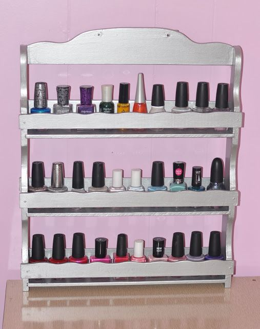 Spice Rack Makeover - Top 31 Super Smart DIY Storage Solutions For Your Home Improvement- I'd use it for my oils