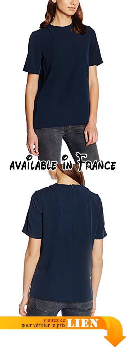 Whyred Eilen, Blouse Femme, Bleu-Bleu Marine, 34.  #Apparel #SHIRT