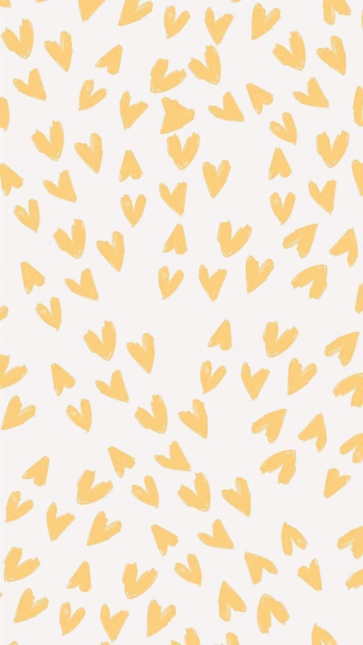 Yellow Hearts Background Wallpaper Iphone Cute Wallpaper Backgrounds Aesthetic Wallpapers