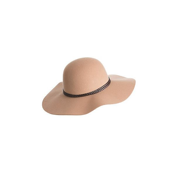 Francesca Wool Felt Floppy Hat (230 DKK) ❤ liked on Polyvore featuring accessories, hats, party hat, wool floppy hat, wool felt hat, party crowns and floppy brim hat