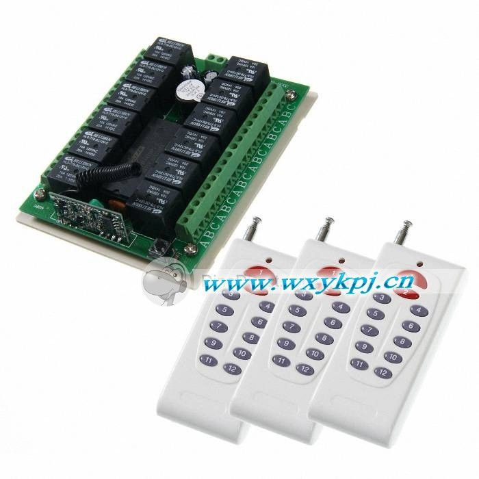 Dc12v 12 Ch Rf Transmitter Receiver For Light On Off Home Automation Controller Rf 433mhz Radio Control Home Automation Light Accessories Cool Things To Buy
