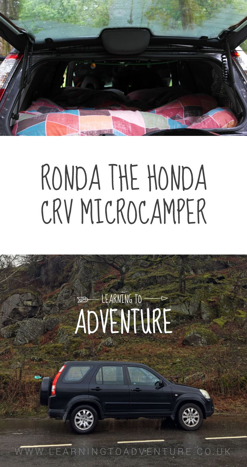 Honda Crv Camper Car Conversion Diy Microcamper Campercar Honda Crv Micro Camper Camper