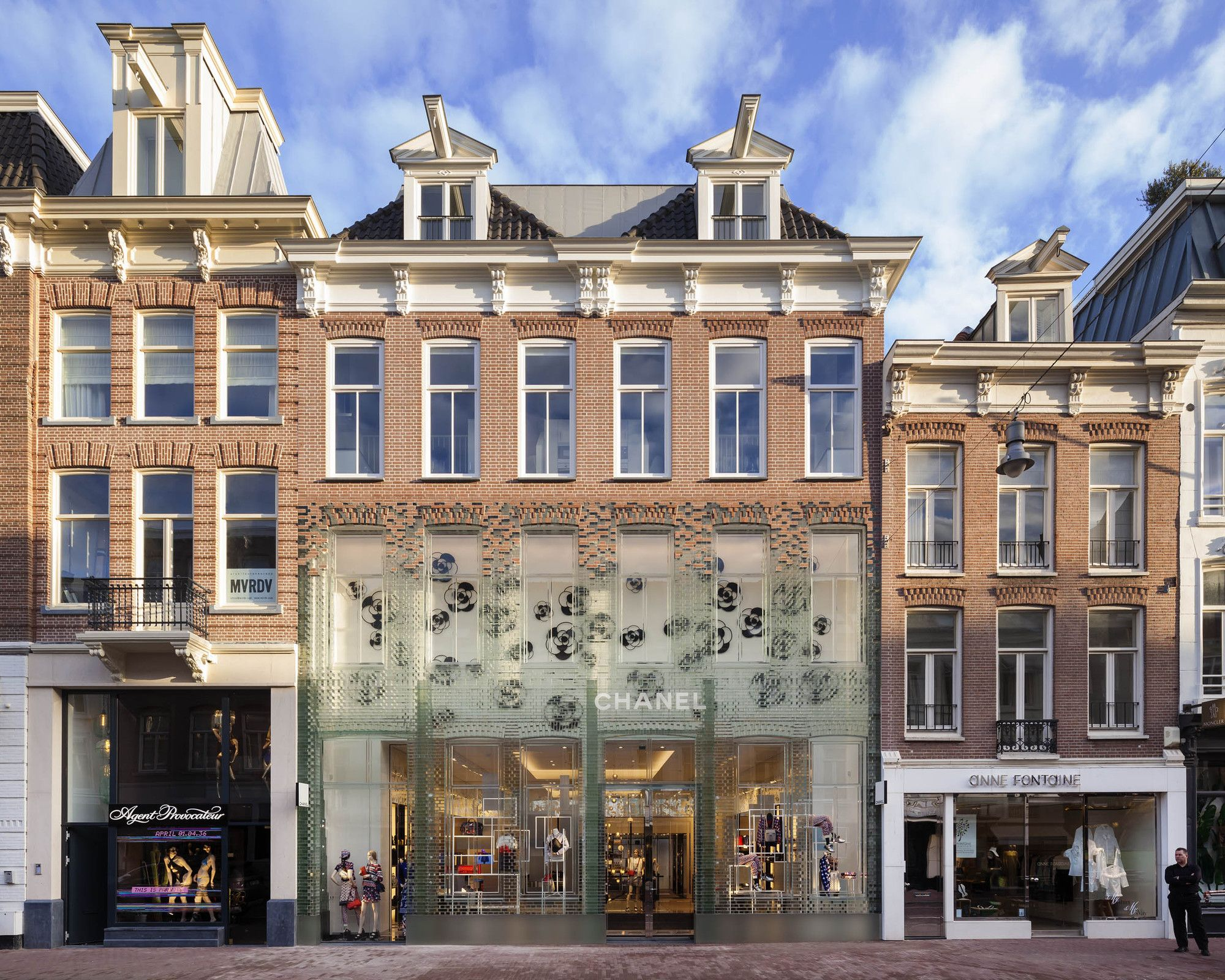 Crystal Houses Mvrdv Brick Facade Amsterdam Houses Glass Facades